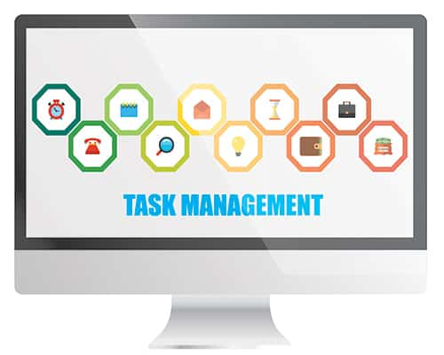 Offline task management software