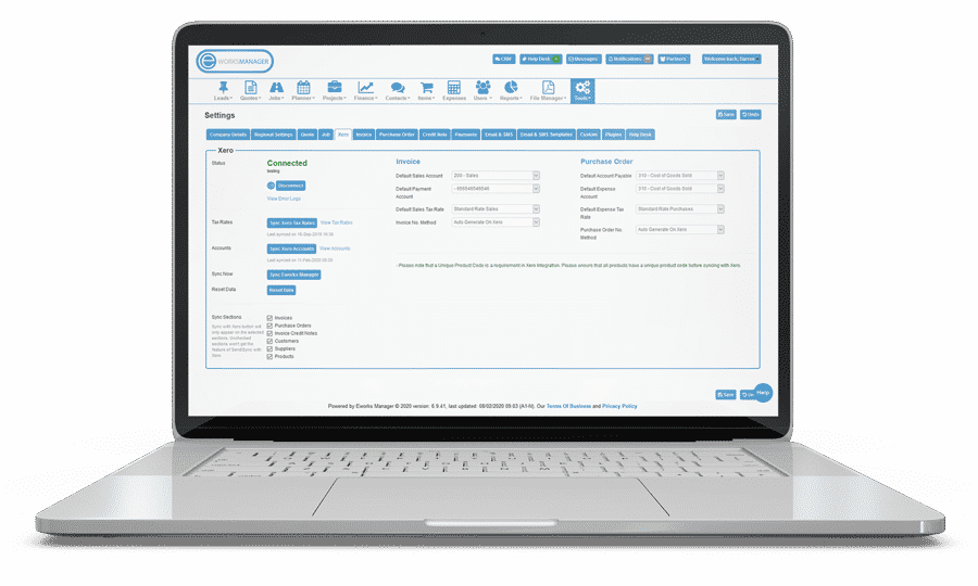 xero integration with eworks manager