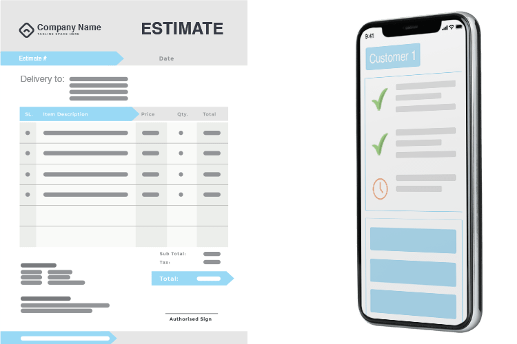 Estimating App - Create an Estimate from the App